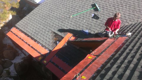 Installation Of Heated Roof Systems Silicone Heated Roof Mats